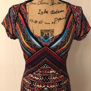 XL Multicolor Mini Dress